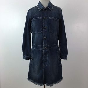 Lucky Brand Denim Distressed Boho Dress